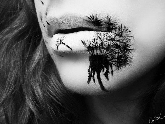 Идеи макияжа губ на Хэллоуин от Евы Пернас