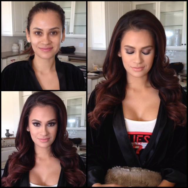 Модели журнала Playboy и другие девушки до и после макияжа