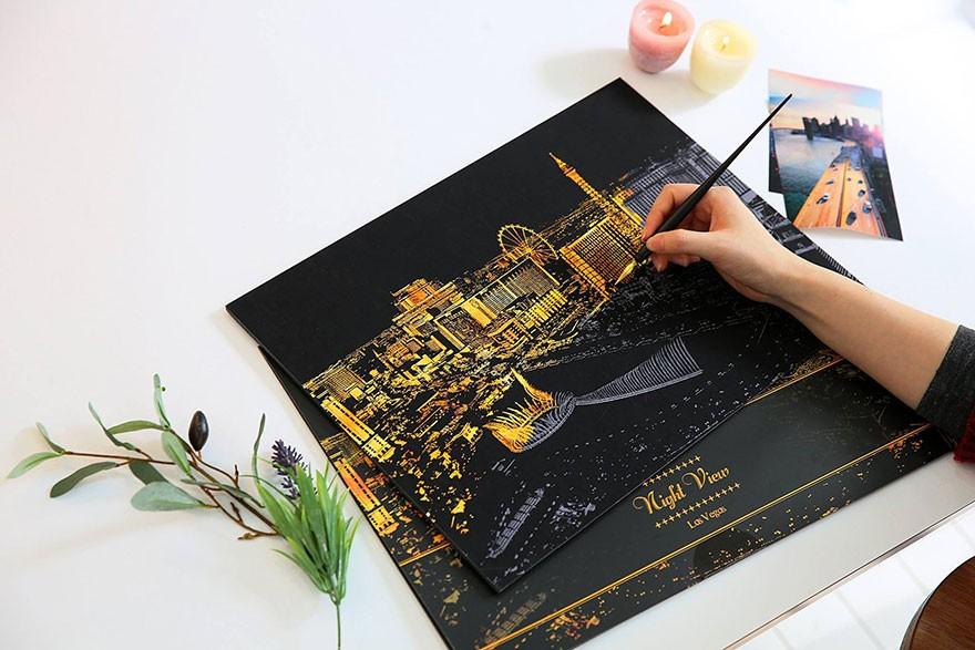 Раскраска для взрослых, которую нужно осветить