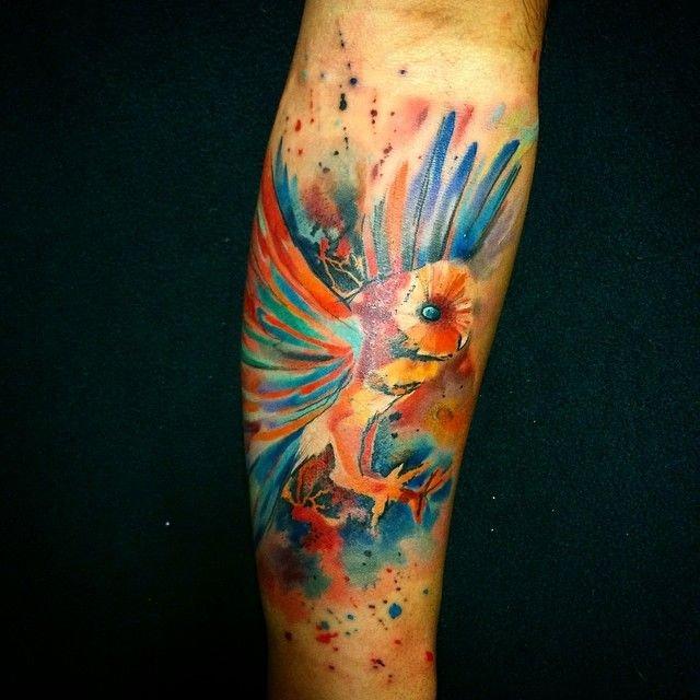 Акварельные татуировки от Ондрея Канупцика