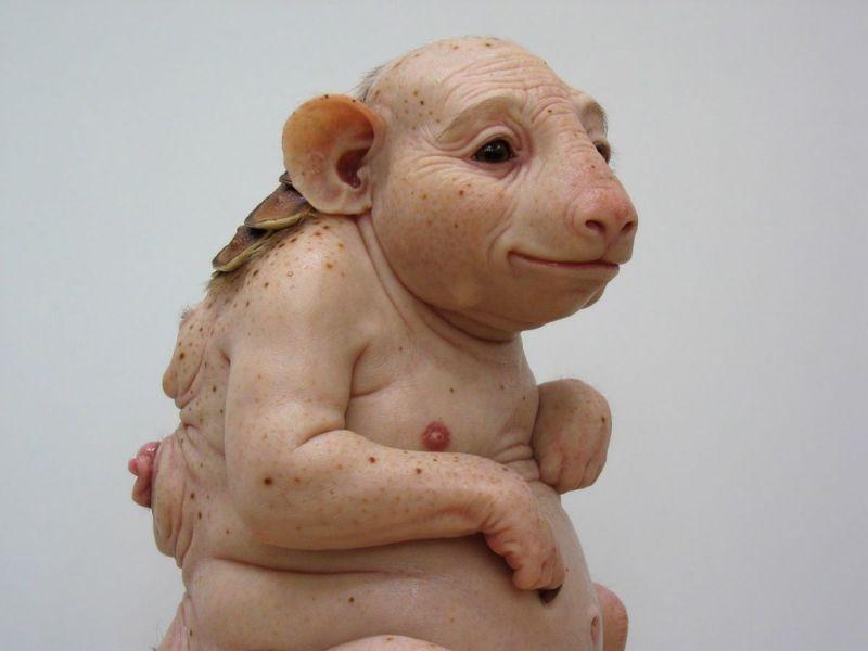 Гиперреалистичные жутковатые анатомические скульптуры от Патриции Пиччинини