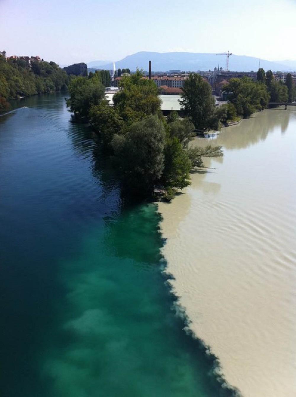 Места слияния двух рек