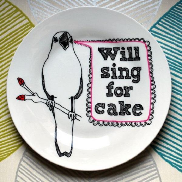 Забавные тарелки для торта