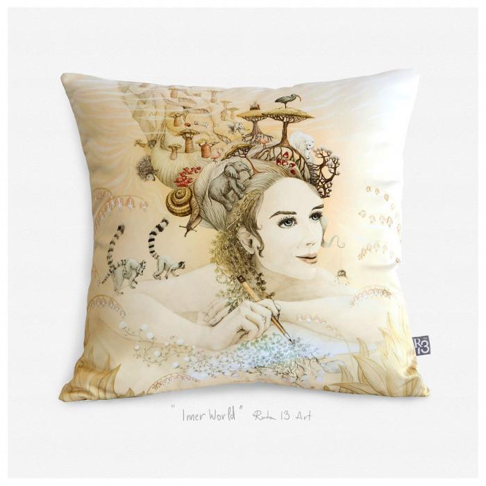 Дизайнерские подушки с картинами
