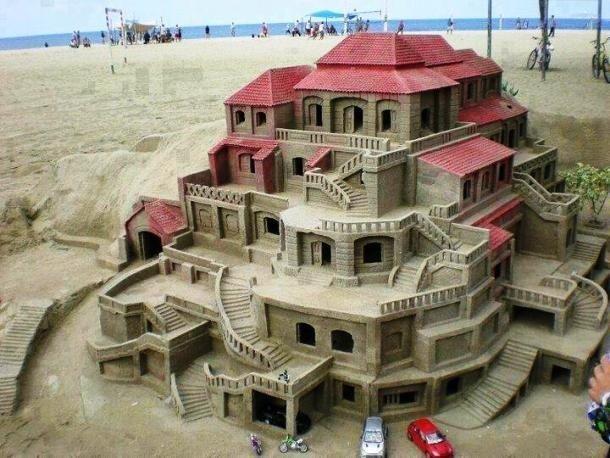 Красивые песчаные замки