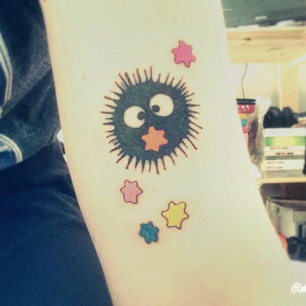 Татуировки, вдохновлённые творчеством Хаяо Миядзаки