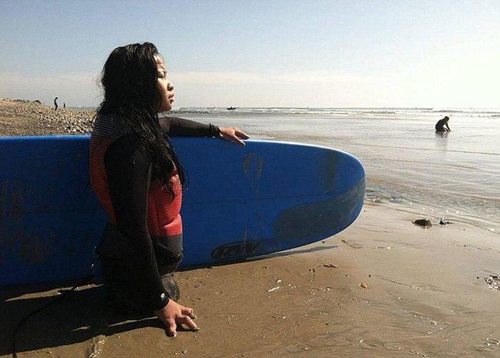 Спортсменка и модель Канья Сессер, которая родилась без ног