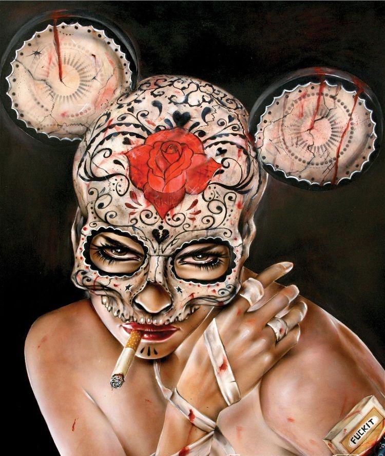 Курящие девушки на картинах Брайна Вивероса