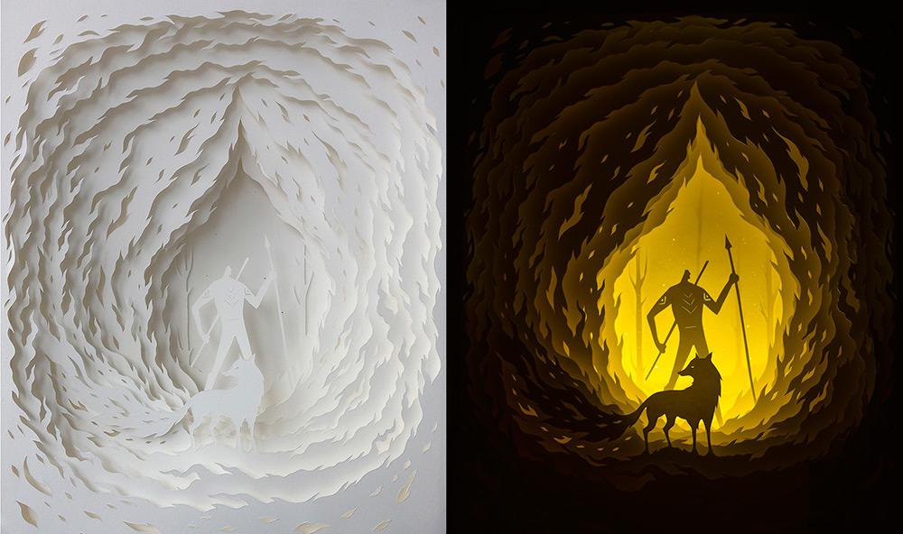 Многослойные сказочные картины Hari & Deepti