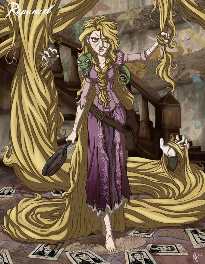 Принцессы Диснея на темной стороне