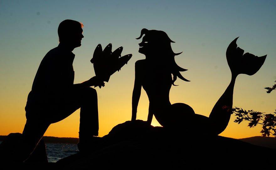 Причудливые силуэты на фоне восхитительных закатов