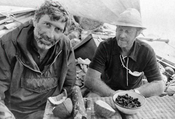 Путешествие Юрия Сенкевича и Тура Хейердала на папирусной лодке Ра