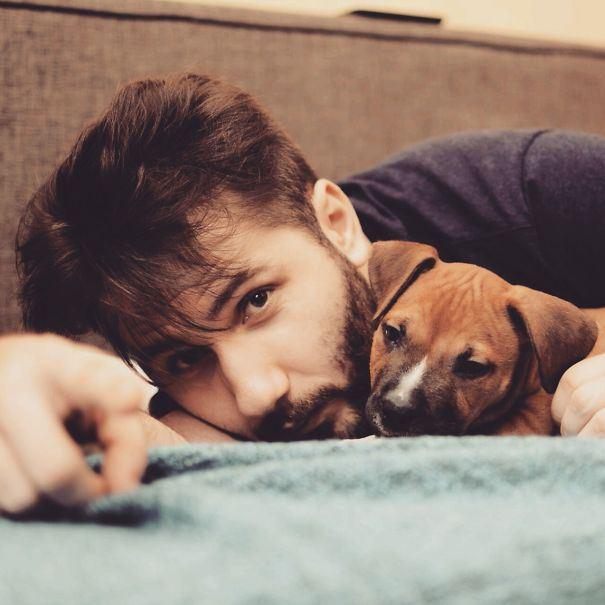 Горячие парни и собаки на фото из Instagram