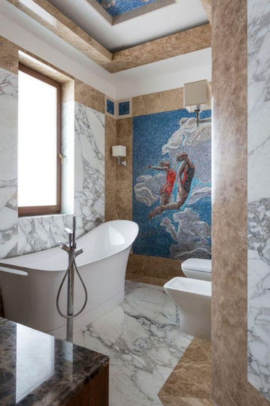 Оригинальные идеи для оформления стен в ванной