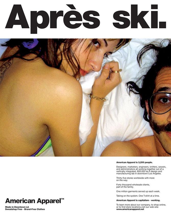 Скандальная реклама с сексуальным подтекстом от American Apparel