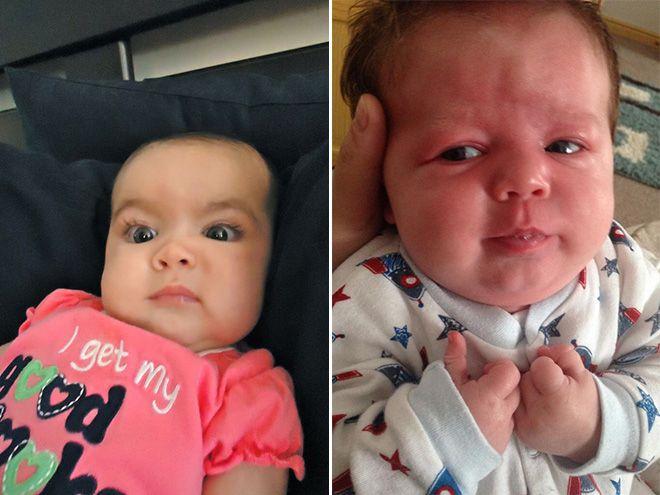 Выражения лиц у младенцев в процессе