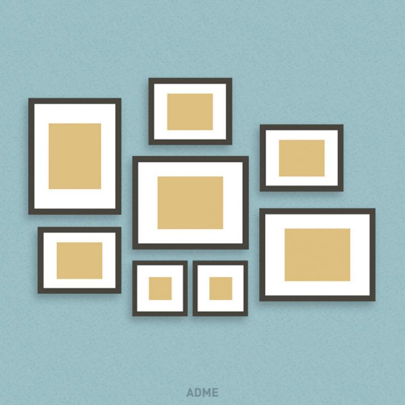 6 идей, чтобы развесить рамки с фотографиями