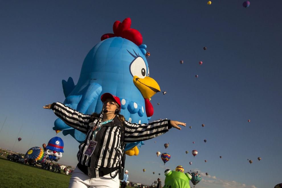 Как проходит фестиваль воздушных шаров в Альбукерке