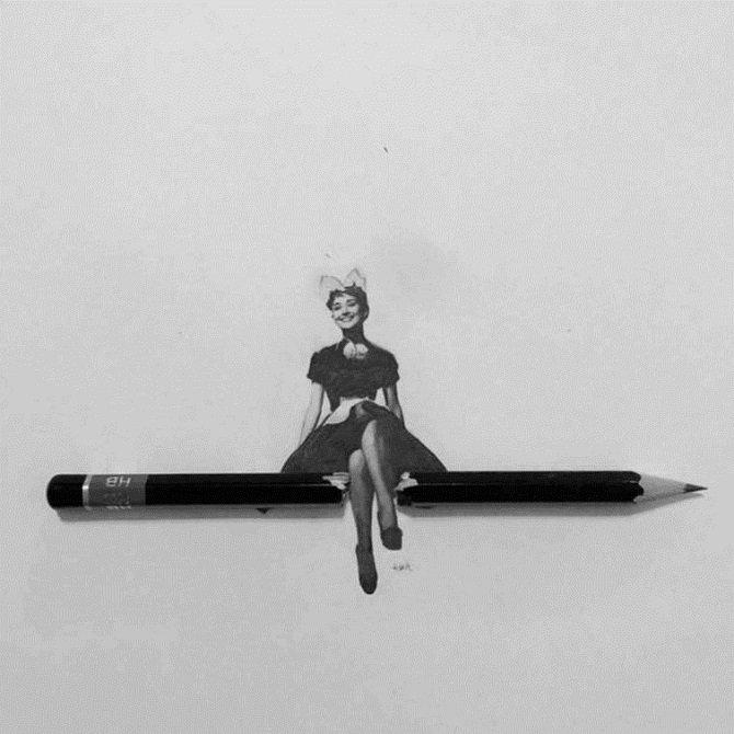 Миниатюрные рисунки знаменитостей от Ашиша Патела