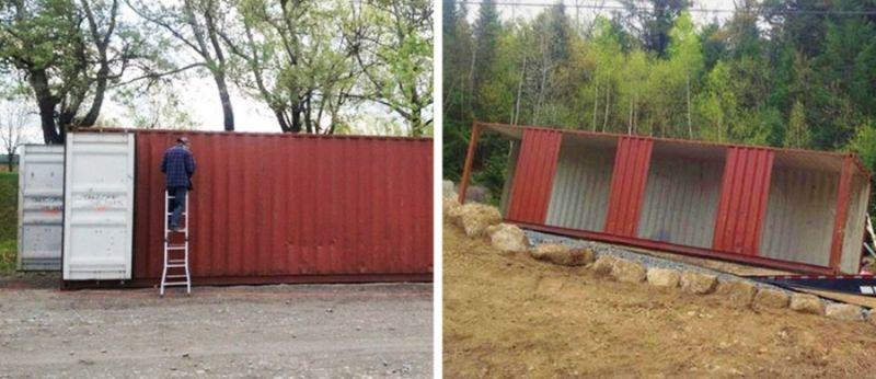 Полноценный особняк из транспортировочных контейнеров