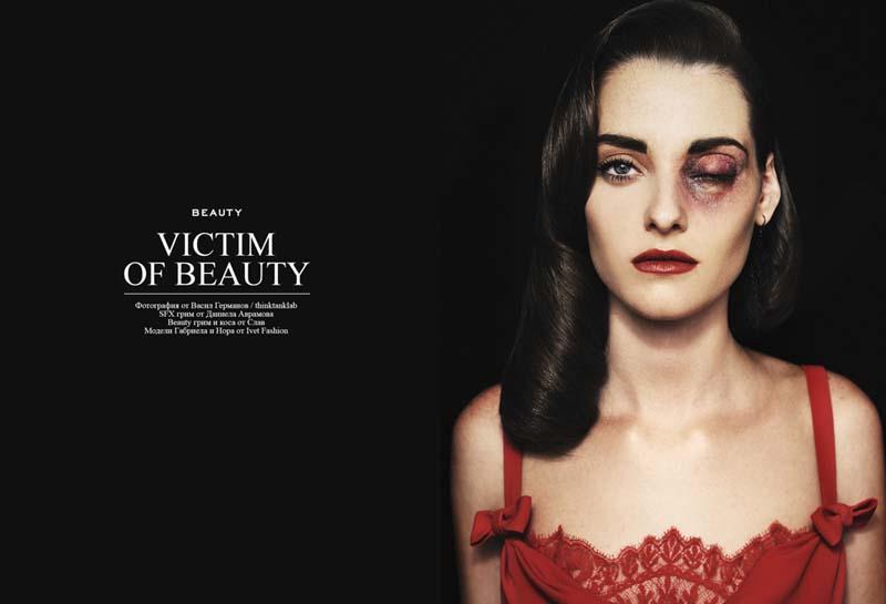 Фотографии из мира моды с намеком на насилие