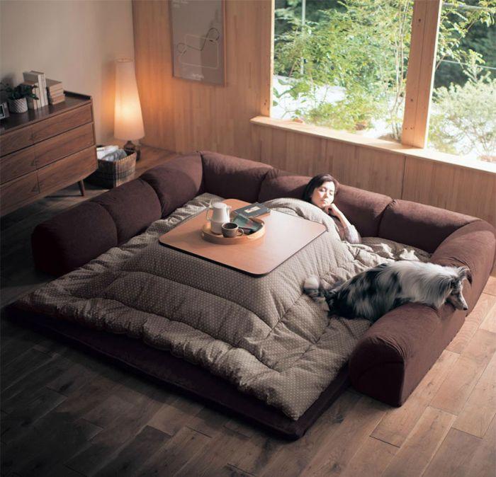 Японская стол-кровать котацу