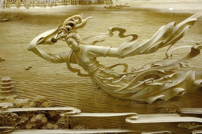 Невероятные скульптуры из дерева от китайских мастеров