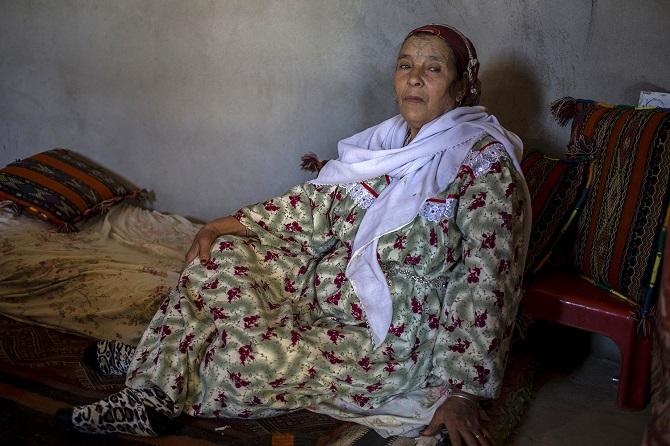 Татуировки от злых духов у берберских женщин
