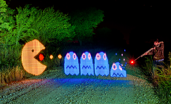 Яркие работы мастеров светографики