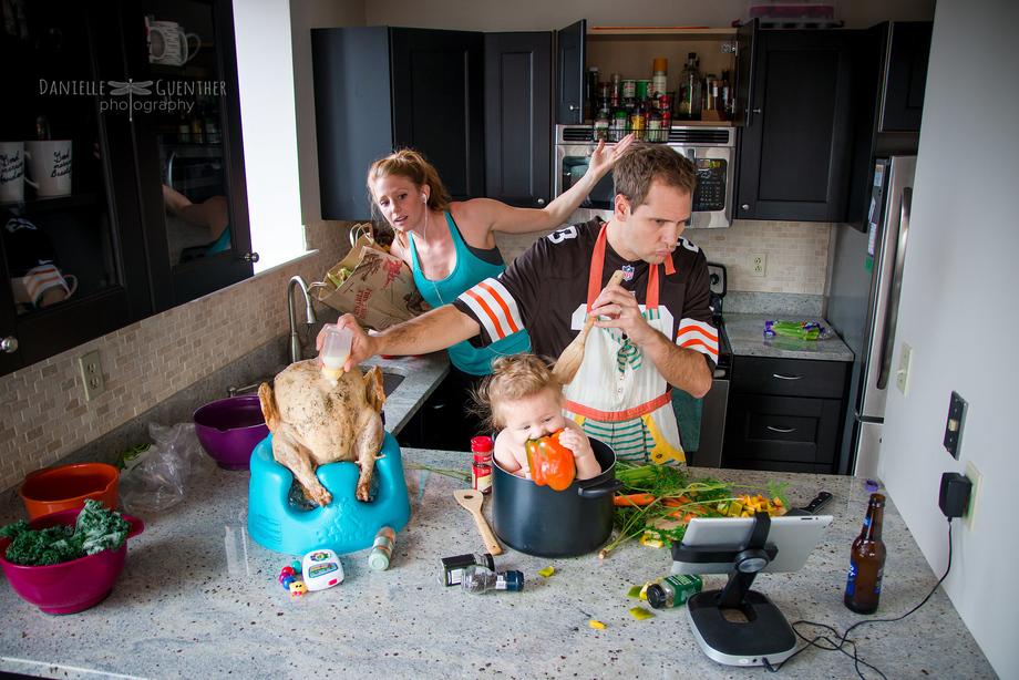 Трудности воспитания детей на семейных фотографиях Даниэллы Гюнтер