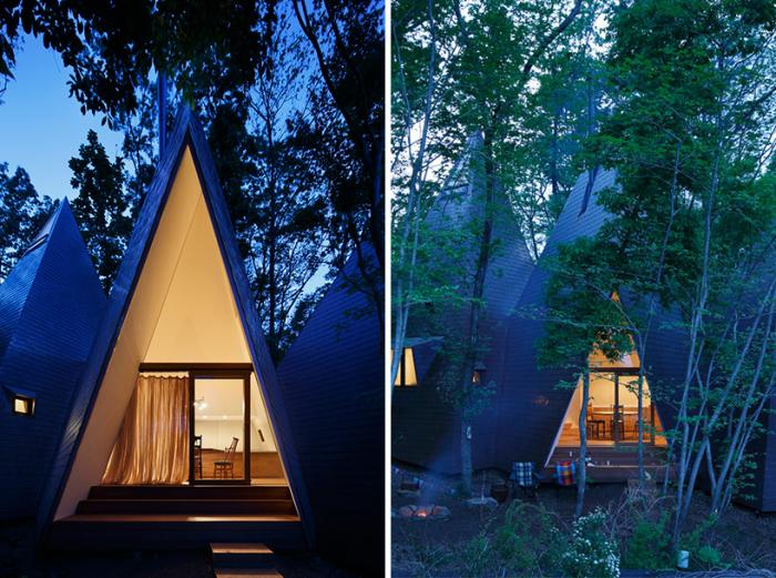 Необычный лесной домик в Японии