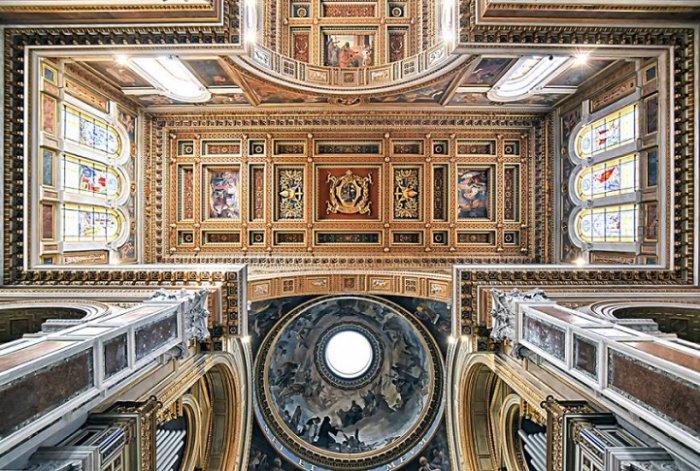 Красота сводов римских храмов