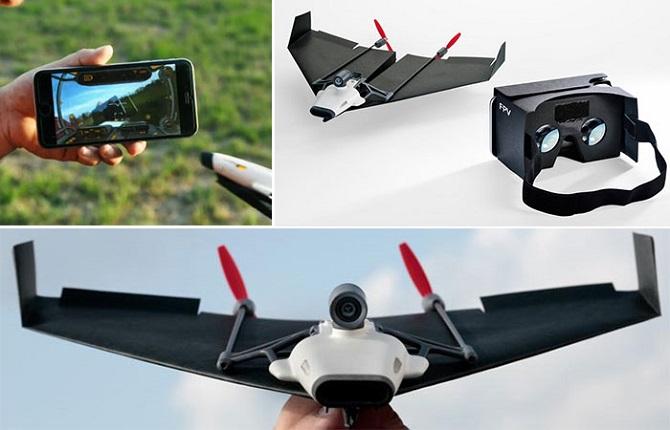 Бумажные самолетики XXI века, управляемые со смартфона