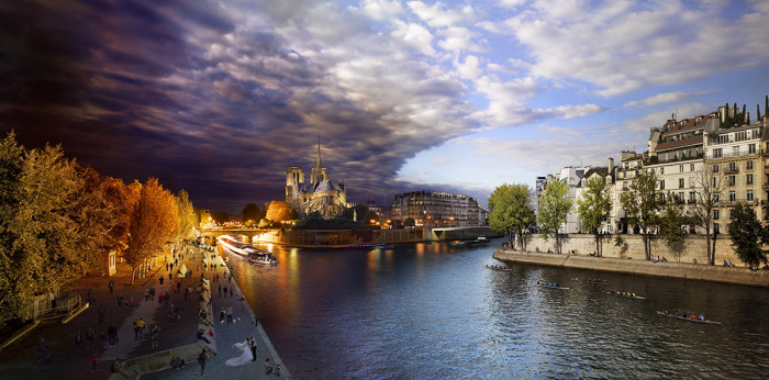 Встреча дня и ночи на панорамных снимках Стивена Вилкса