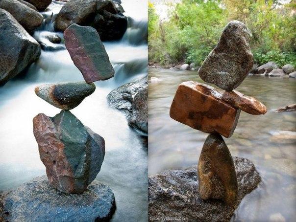 Баланс каменных пирамид от Майкла Грэба