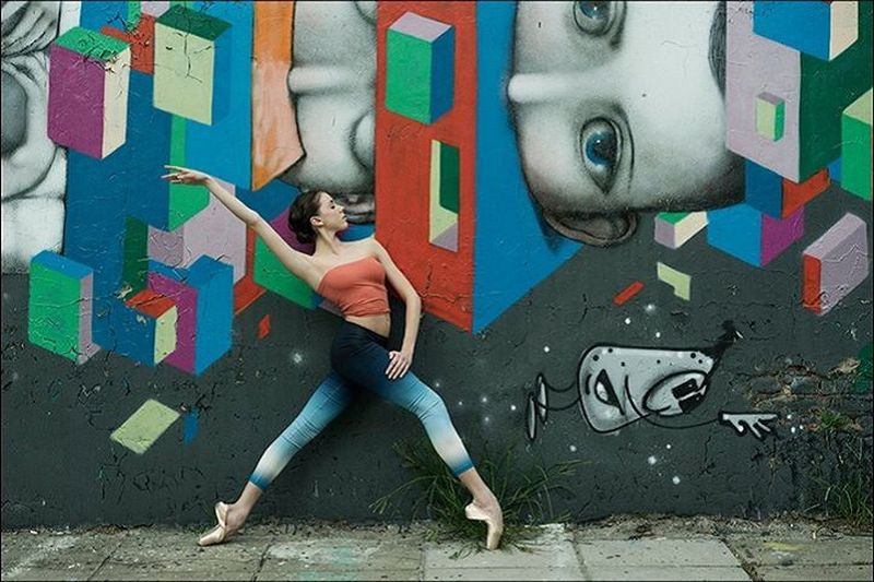 Грациозные балерины на улицах города от Дэйна Шитаги