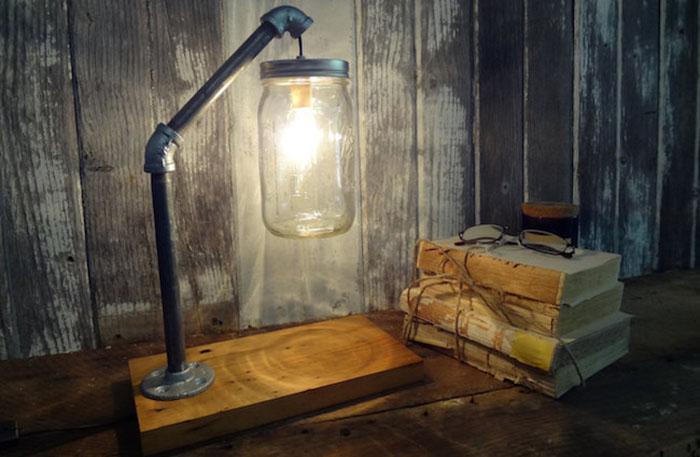 Потрясающие настольные лампы в индустриальном стиле