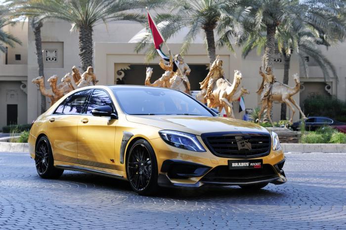 Mercedes S65 AMG Rocket 900 Desert Gold от компании Brabus