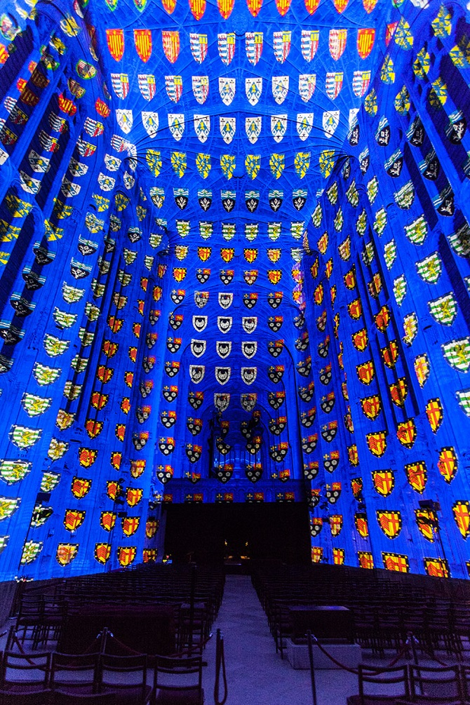 Необыкновенные световые проекции в Кебридже Miguel Chevalier