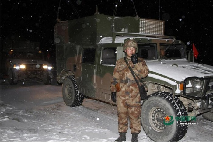 Зимние учения армии Китая