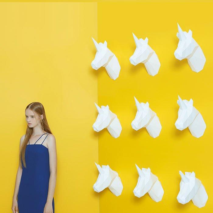 Многоугольные бумажные скульптуры животных