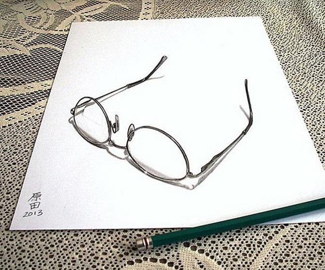 Невероятные трехмерные иллюзии на бумаге, нарисованные простым карандашом
