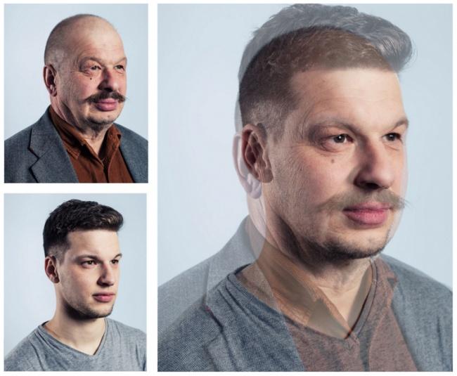 Совмещённые фотографии отцов и сыновей