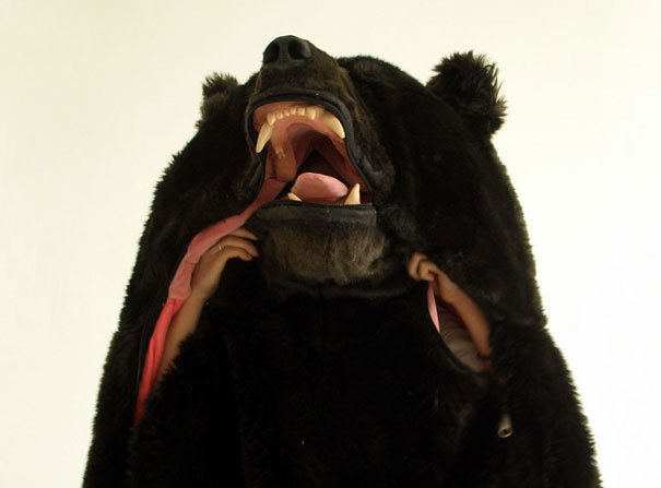 Спальный мешок в виде медведя