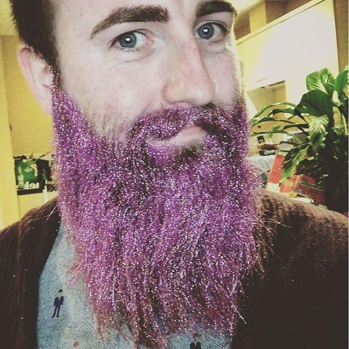 Борода в блёстках - новый тренд в Instagram