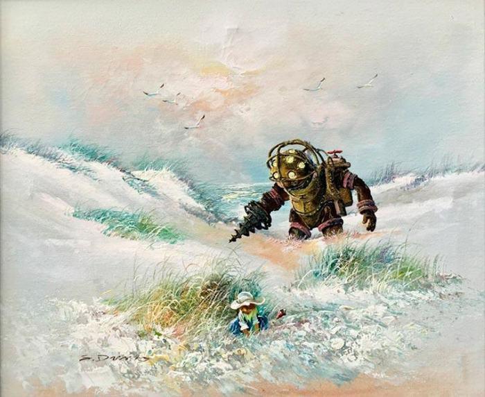 Фантастические персонажи на забытых картинах от Дэйва Поллота