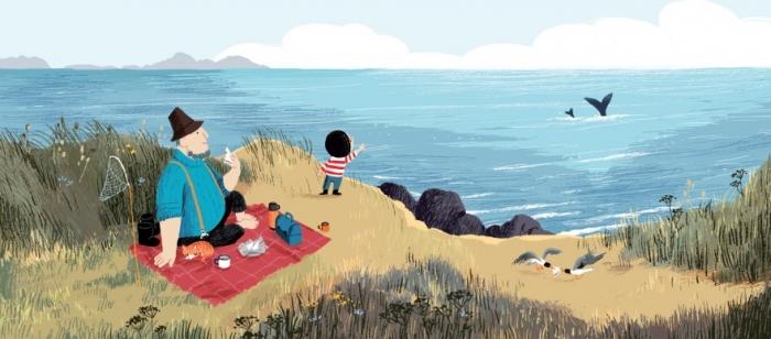 Добрый комикс о маленьком мальчике, который встретил кита