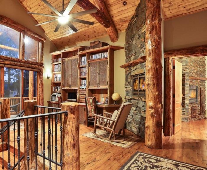 Домашние офисы в деревенском стиле