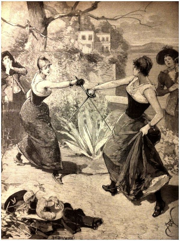 Из истории женских дуэлей