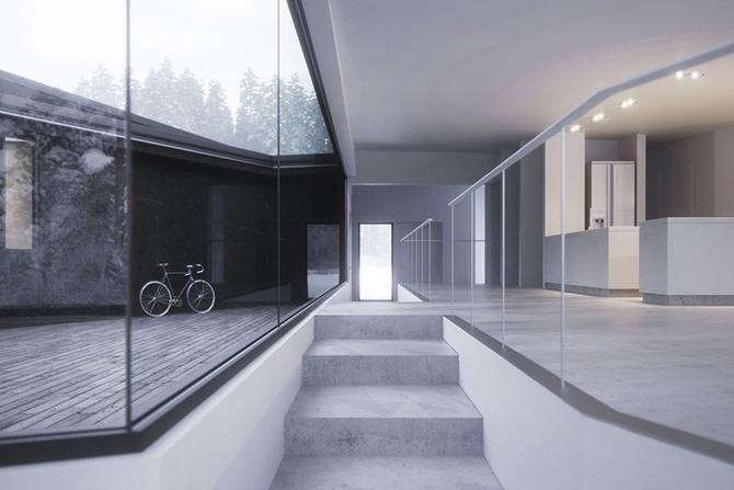 Twin Houses: два дома из геометрических фигур
